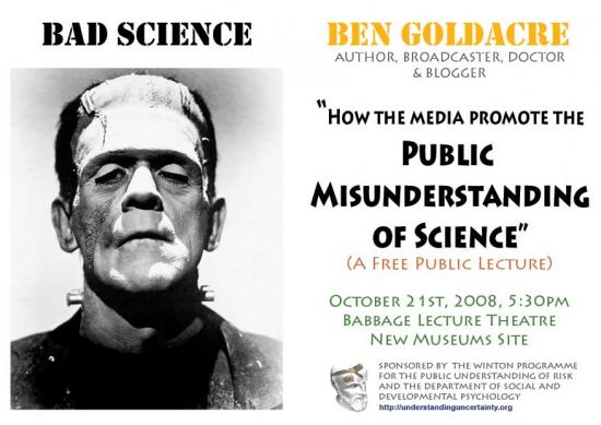 Ben Goldacre Poster 21st October 2008
