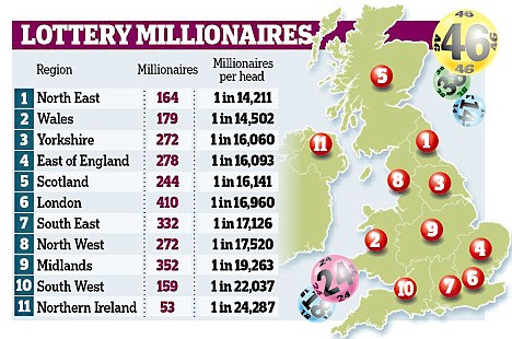 Postcode Lottery Winners Map Postcode Lottery Winners Map | Color 2018